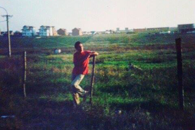 Avni Rudaku, pictured in the fields on the outskirts of Gjilan that separated the city from the nearby serb village of Koretishta. Photo courtesy of Avni Rudaku