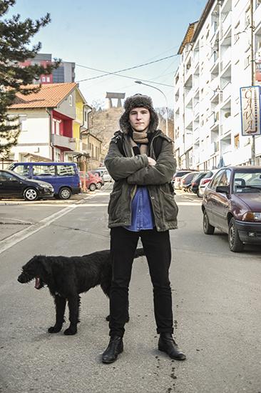 Jovan Maslar (North Mitrovica, 17). Photo: Atdhe Mulla / K2.0.