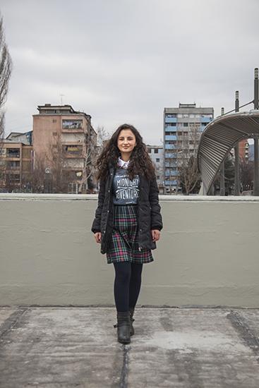 Arta Hasani (Mitrovica, 17). Photo: Majlinda Hoxha / K2.0.
