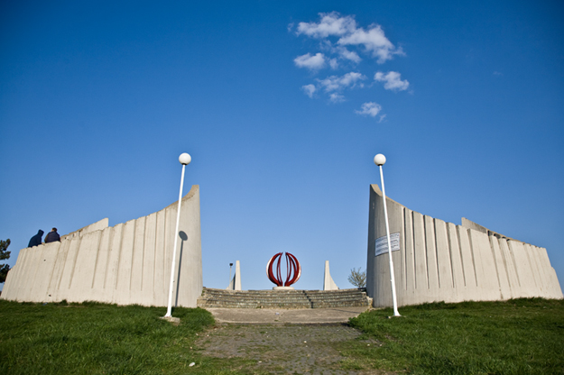 The National Martyrs monument in Velania as a testament to the Yugoslav partisans who died in World War II.