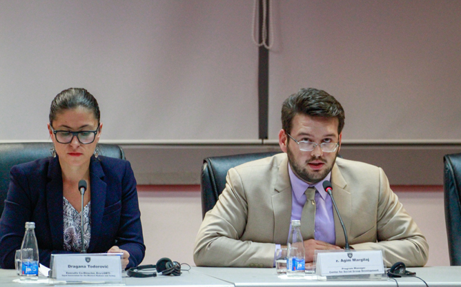 Agim Margilaj told the conference that a recent conviction of two people for an attack on LGBTI persons in Ferizaj gave the LGBTI community hope that such issues were beginning to be taken seriously.