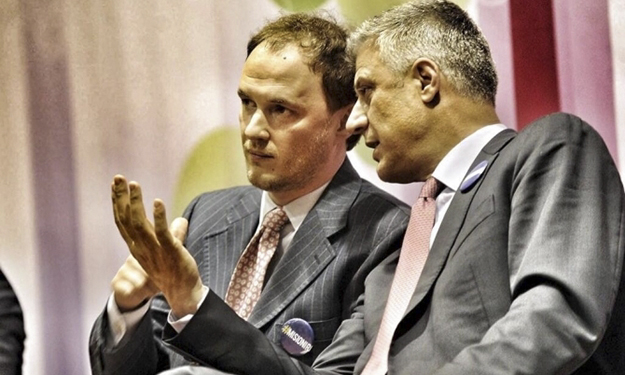 Petrit Selimi (left) was on the front line of Kosovo's diplomatic efforts to join UNESCO, along with Hashim Thaci.