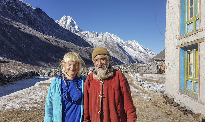 The last village Ibrahimi stayed in on her three week trek was Na, where she met a local man who had climbed Mount Everest on 12 occasions. Photo courtesy of Uta Ibrahimi.