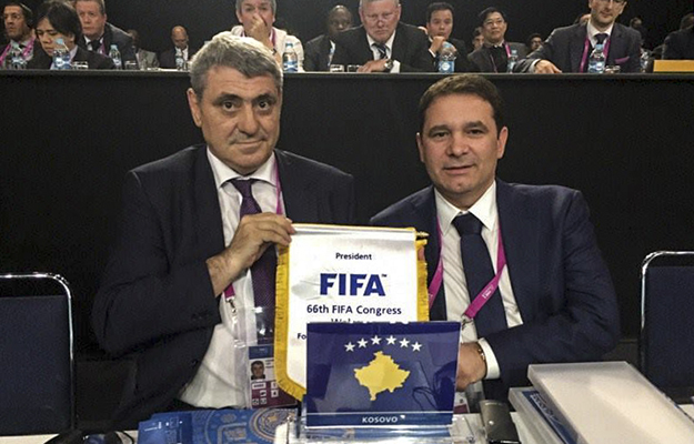 Identity Through Sports_Fadil Vokrri at Fifa Congress_001 - Kosovo 2.0